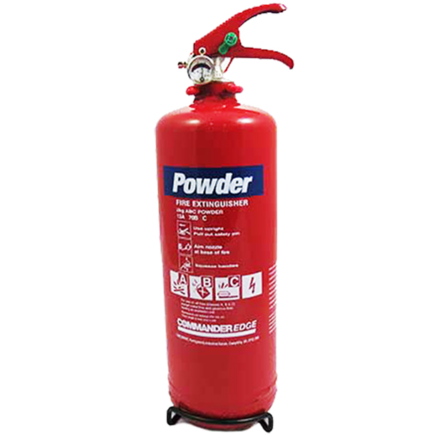 1 x 2kg ABC Dry Powder Fire Extinguisher With Bracket - For House, Car, Boat, Office Etc